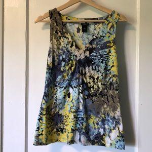 Ann Taylor abstract print blouse